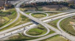 Birds eye view of 407 East intersection