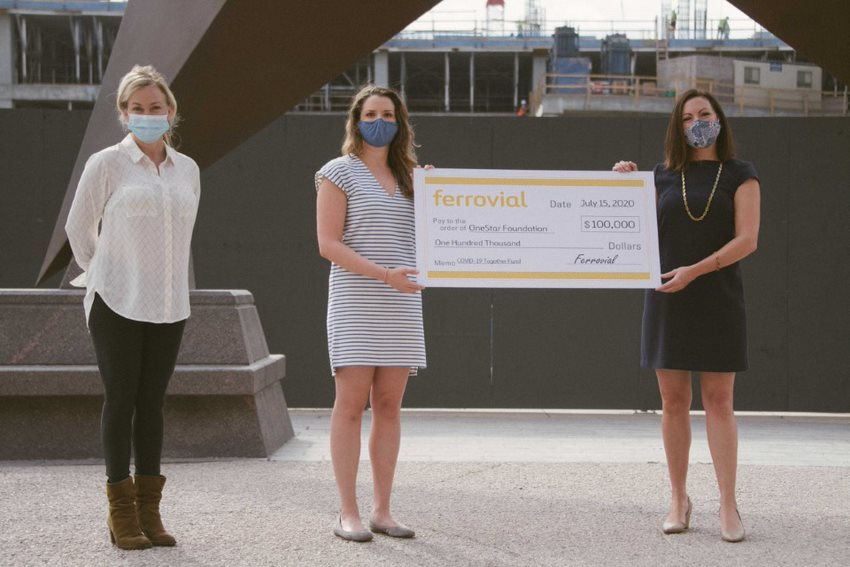 onestar receives $100,000 fund help ferrovial together covid-19