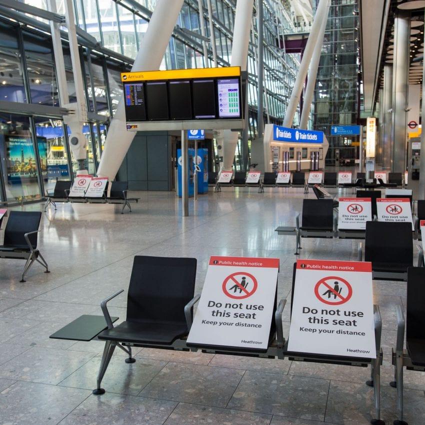 Heathrow Aeropuer Seguro Covid 19 Viajar Seguridad Más Seguro Europa